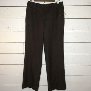 NWT New Directions Ladies Dress Pant Cute Button